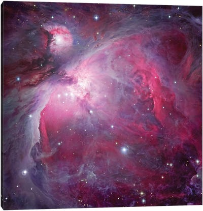 M42, The Great Nebula In Orion Canvas Art Print