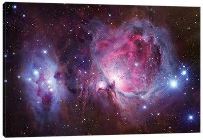 M42, The Great Nebula In Orion Mosaic Canvas Art Print