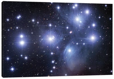 M45, The Pleiades (Seven Sisters) Canvas Art Print