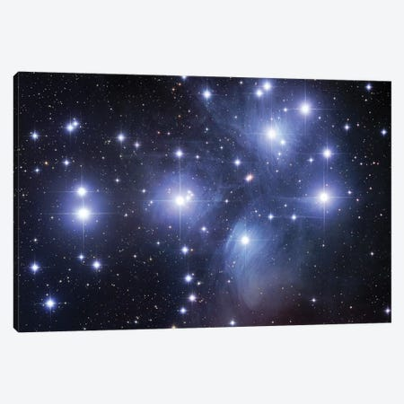 M45, The Pleiades (Seven Sisters) Canvas Print #GEN59} by Robert Gendler Canvas Artwork
