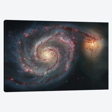 M51, The Whirlpool Galaxy I Canvas Print #GEN61} by Robert Gendler Art Print