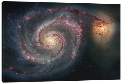 M51, The Whirlpool Galaxy I Canvas Art Print