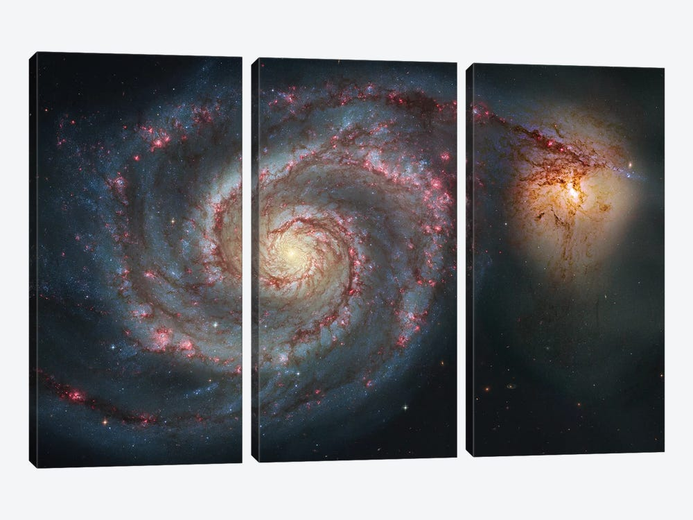 M51, The Whirlpool Galaxy I by Robert Gendler 3-piece Art Print
