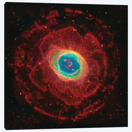 M57, The Ring Nebula (NGC 6720) Canvas Print #GEN63} by Robert Gendler Canvas Art Print