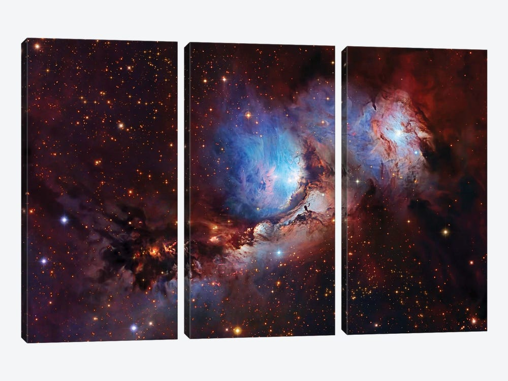 M78, Nebula Complex In Orion 3-piece Canvas Art