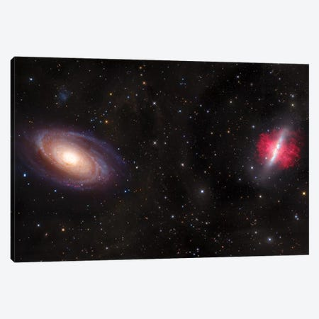 M81, Spiral Galaxy In Ursa Major I Canvas Print #GEN65} by Robert Gendler Canvas Artwork