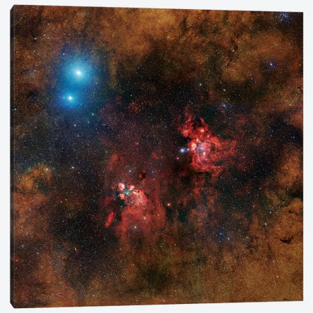 Cat Paw Nebula Mosaic Canvas Print #GEN6} by Robert Gendler Canvas Wall Art