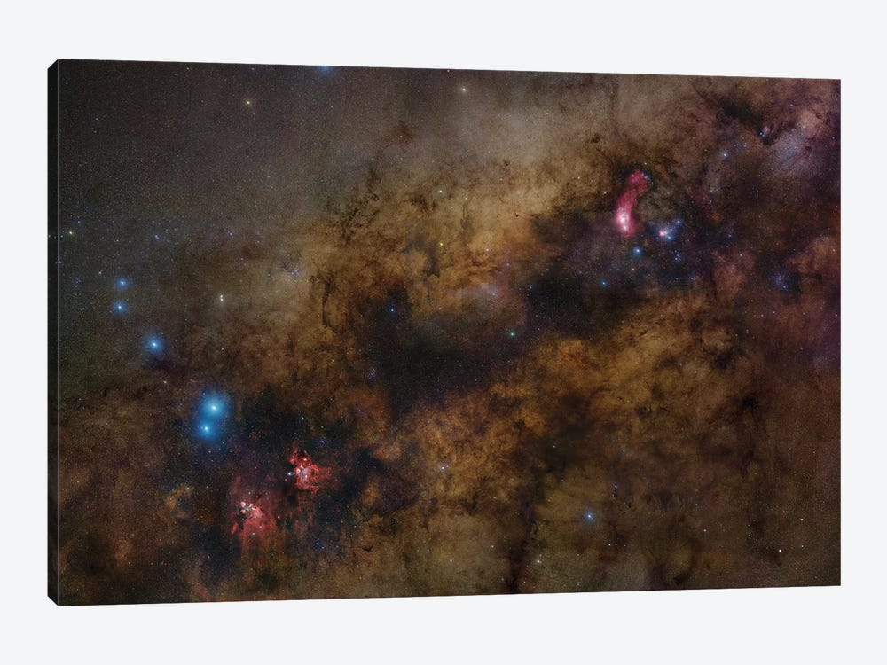 Milky Way Center 1-piece Canvas Art Print