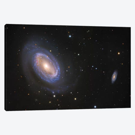 Spiral Galaxies In Coma Berenices (NGC 4725) Canvas Print #GEN84} by Robert Gendler Canvas Art