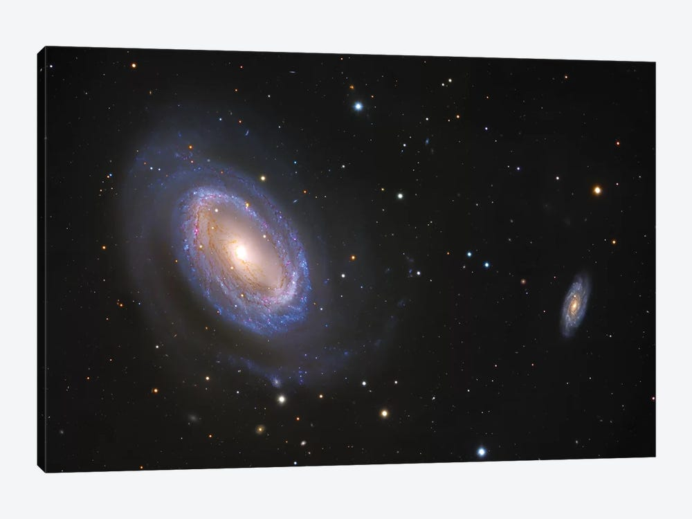 Spiral Galaxies In Coma Berenices (NGC 4725) 1-piece Canvas Wall Art