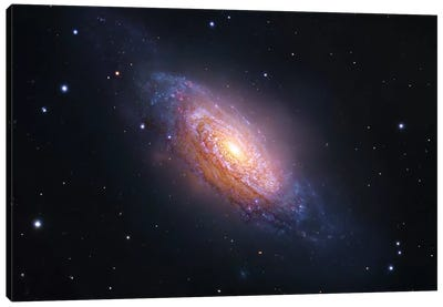 Spiral Galaxy In Leo (NGC 3521) Canvas Art Print