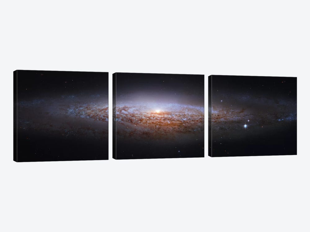 Spiral Galaxy In Lynx, Mosaic From Hubble Legacy Archive (NGC 2683) I by Robert Gendler 3-piece Canvas Art