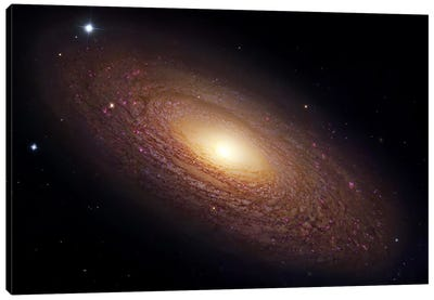 Spiral Galaxy In Ursa Major (NGC 2841) Canvas Art Print