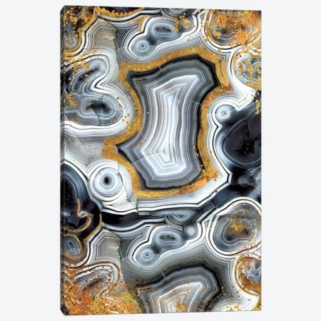 Geode Onyx Canvas Print #GEO5} by 5by5collective Canvas Art Print