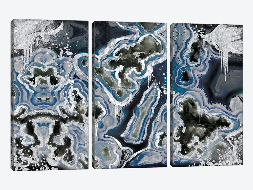 Royal Sterling Geode by 5by5collective 3-piece Art Print