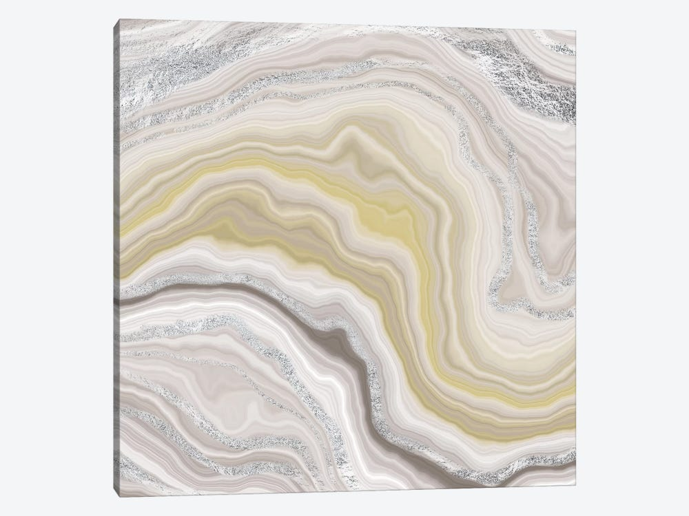 Sterling Fluidity by 5by5collective 1-piece Canvas Wall Art