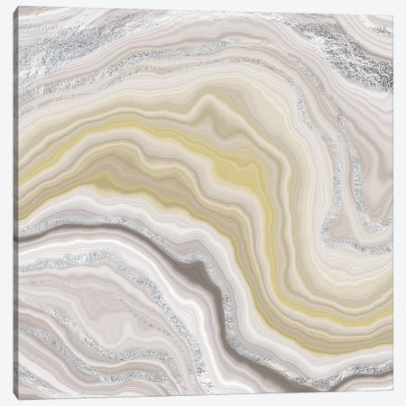 Sterling Fluidity Canvas Print #GEO8} by 5by5collective Canvas Artwork