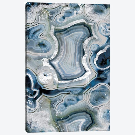 Sterling Sapphire Geode Canvas Print #GEO9} by 5by5collective Canvas Wall Art