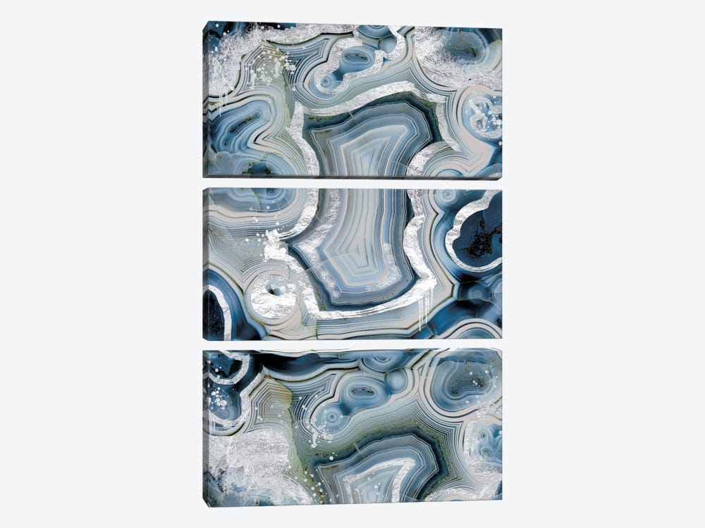 Sterling Sapphire Geode by 5by5collective 3-piece Canvas Print