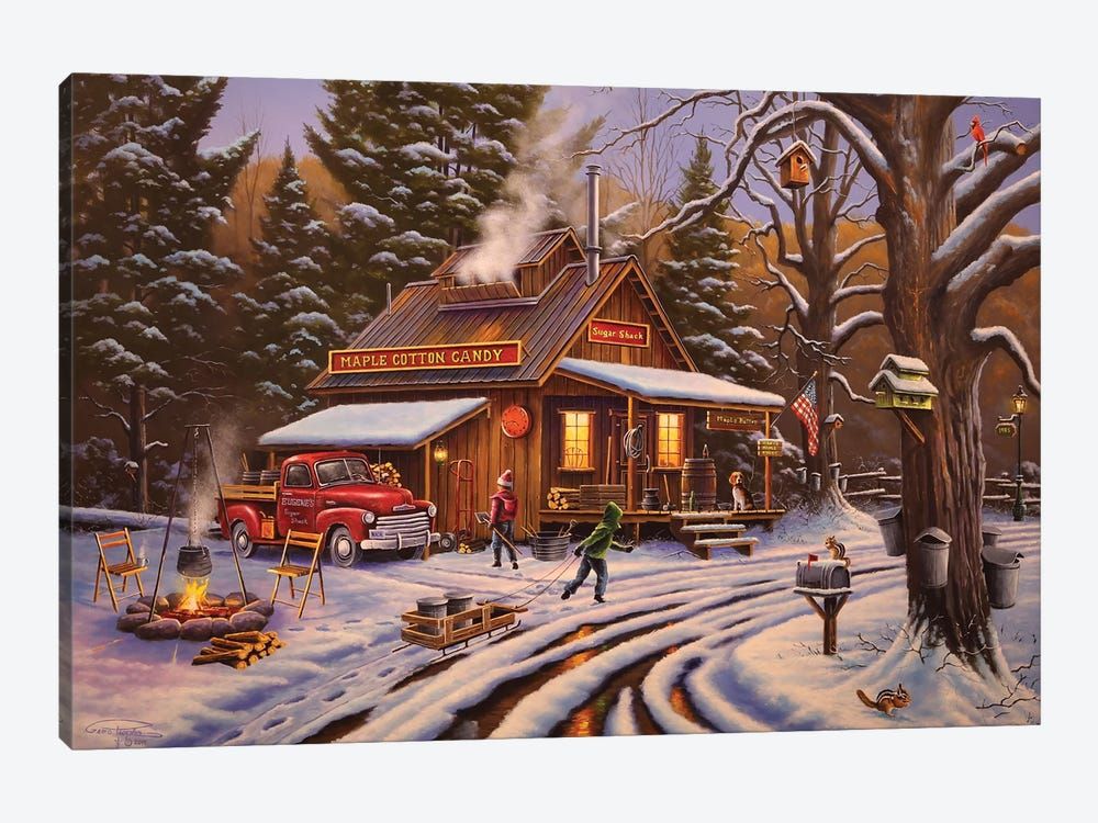 Maple Sugaring Time by Geno Peoples 1-piece Canvas Artwork