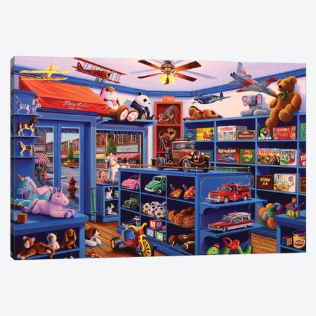 Mary Lee's Toy Store Canvas Print #GEP106} by Geno Peoples Canvas Wall Art