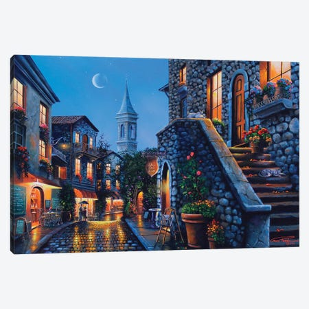 Moonlit Stroll Canvas Print #GEP115} by Geno Peoples Art Print
