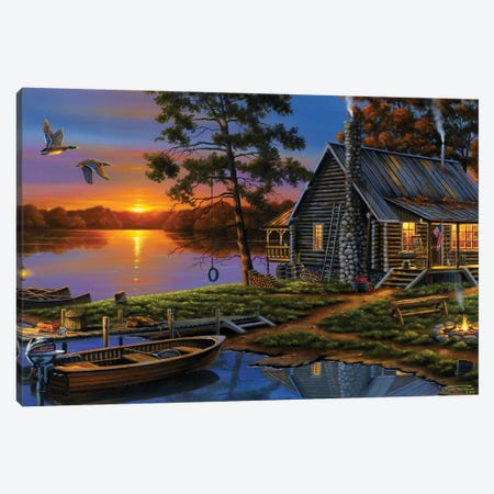 Morning Glory Canvas Print #GEP116} by Geno Peoples Canvas Print