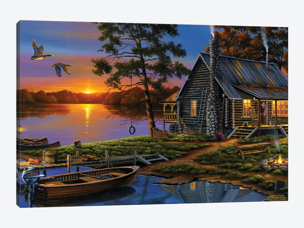 Morning Glory by Geno Peoples 1-piece Canvas Artwork