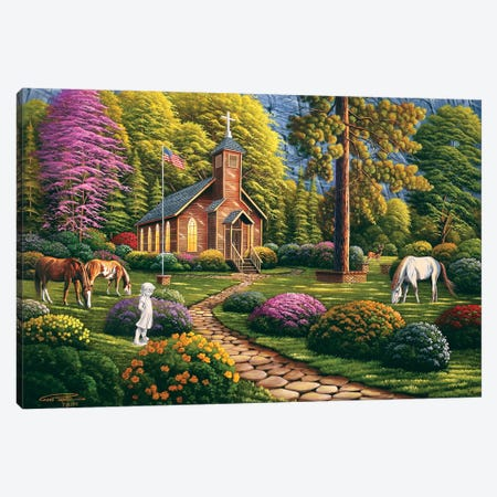 Morning Service Canvas Print #GEP117} by Geno Peoples Canvas Art Print