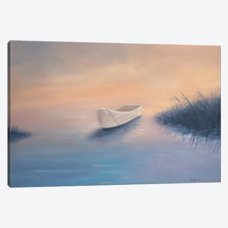 Nick's Boat Canvas Print #GEP119} by Geno Peoples Canvas Art
