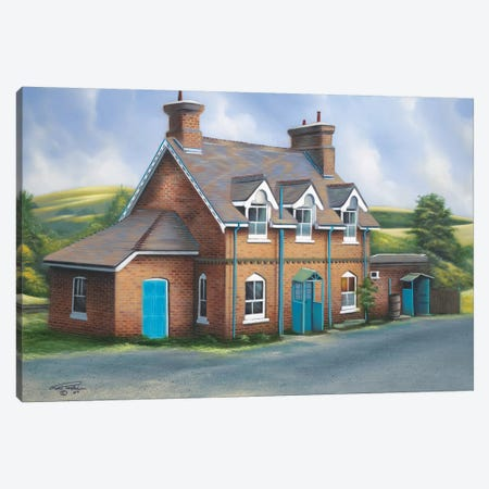Old Burghclere Station Canvas Print #GEP121} by Geno Peoples Canvas Art Print