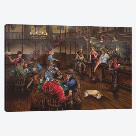 Old West Saloon Canvas Print #GEP122} by Geno Peoples Art Print