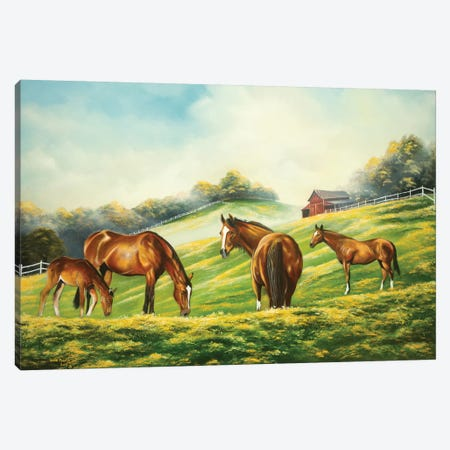 At First Graze Canvas Print #GEP12} by Geno Peoples Canvas Wall Art