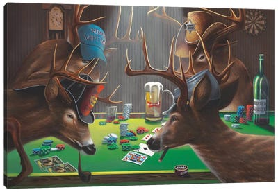 Playing For Doe Canvas Art Print