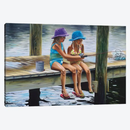 Quality Time Canvas Print #GEP133} by Geno Peoples Canvas Wall Art