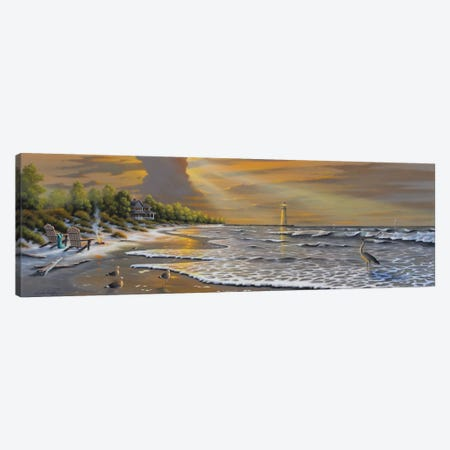 Seaside Reflections Canvas Print #GEP143} by Geno Peoples Art Print