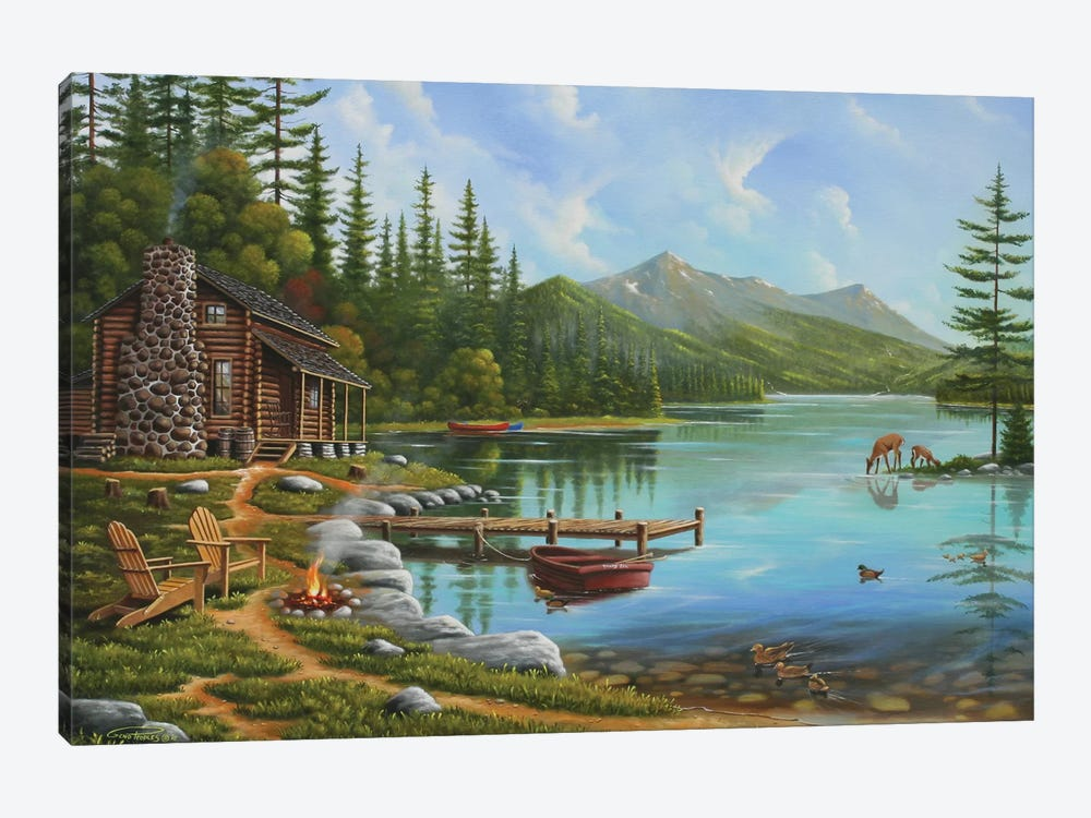 Simple Living by Geno Peoples 1-piece Canvas Artwork