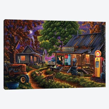 Sleepy Hollow General Store Canvas Print #GEP149} by Geno Peoples Art Print