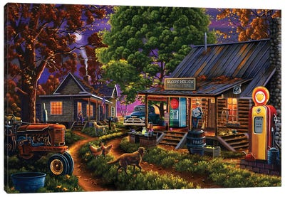 Sleepy Hollow General Store Canvas Art Print