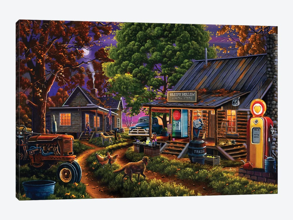 Sleepy Hollow General Store by Geno Peoples 1-piece Canvas Art
