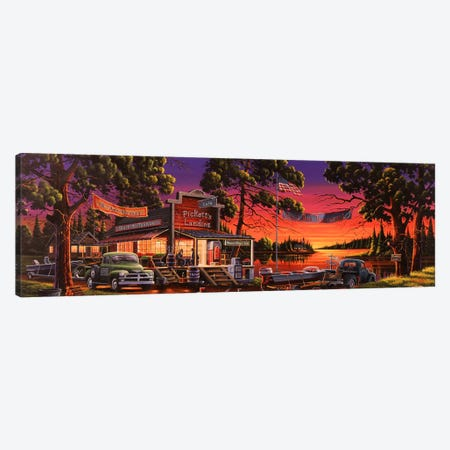 Small Town Bass Tournament Canvas Print #GEP151} by Geno Peoples Canvas Art