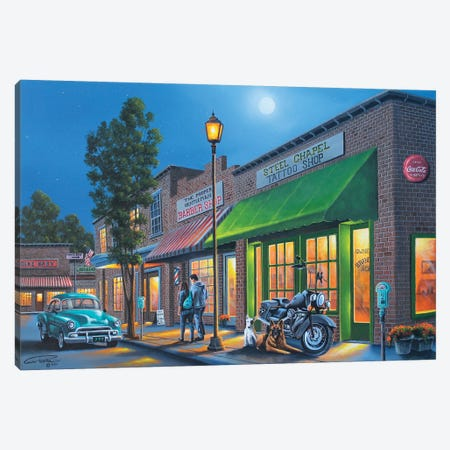 Small Town USA Canvas Print #GEP153} by Geno Peoples Canvas Artwork