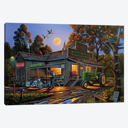 Smokey's General Store Canvas Print #GEP154} by Geno Peoples Art Print