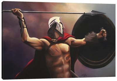 Spartan Warrior Canvas Art Print