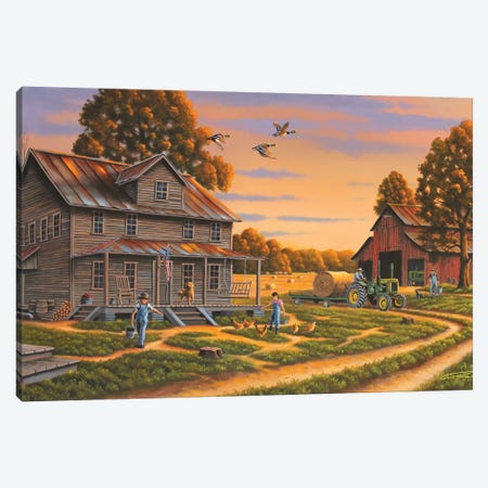 Backbone Of America Canvas Print #GEP15} by Geno Peoples Canvas Art Print