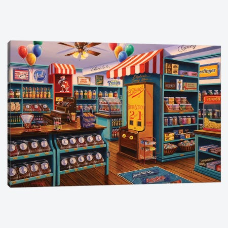 Stephanie's Candy Store Canvas Print #GEP160} by Geno Peoples Canvas Print
