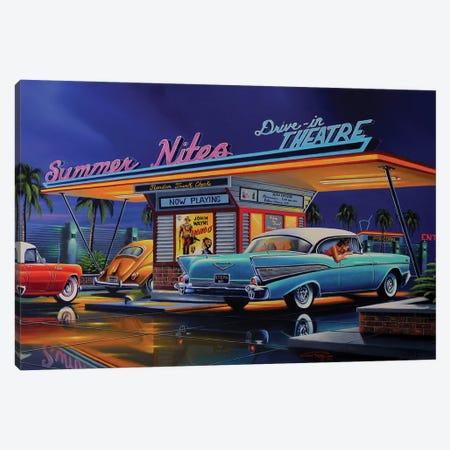 Summer Nites Canvas Print #GEP161} by Geno Peoples Canvas Print