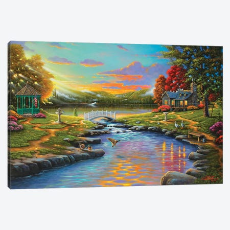 Sweet Harmony Canvas Print #GEP164} by Geno Peoples Canvas Artwork
