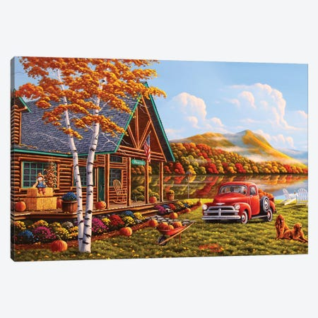 The Pleasures Of Fall Canvas Print #GEP167} by Geno Peoples Canvas Artwork