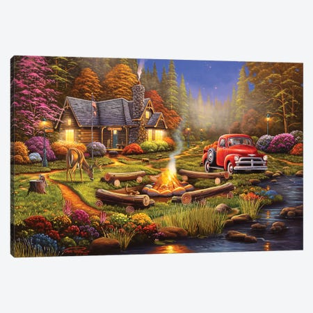 The Woodsmen Canvas Print #GEP169} by Geno Peoples Canvas Print